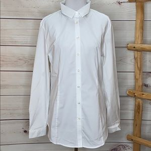 Burberry Woman's White Dress Shirt NWOT Size US 10